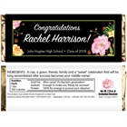 Watercolor Flowers Graduation Candy Bar Wrappers