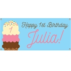 Ice Cream Party Theme Banner