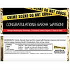 Criminal Justice Degree Graduation Theme Candy Bar