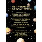 Final Frontier Retirement Party Invitation