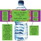 Mardi Gras Super Bowl Water Bottle Label