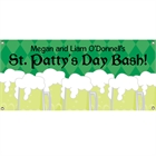 St. Patrick's Day Green Beer Theme Banner