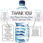 Teacher Appreciation Theme Water Bottle Label