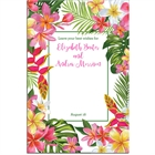 Tropical Flower Sign In Board