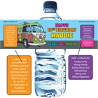 Hippie Bus Water Bottle Label