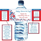 Patriotic Stars Water Bottle Label