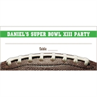 Football Party Seating Card