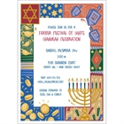 Hanukkah Symbols Invitation
