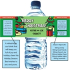 Christmas Tree Water Bottle Label