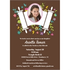 Bat Mitzvah Torah Flowers Invitation