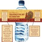 Thanksgiving Turkey Water Bottle Label