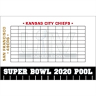 2020 Super Bowl LIV Theme Pool Board
