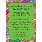 Mardi Gras Super Bowl Invitation