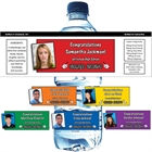 Graduation Color Choice Water Bottle Label