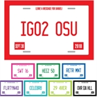 Graduation License Plate Sign In Board