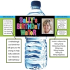 Birthday Celebration Water Bottle Label