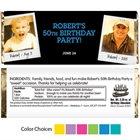 Birthday Polaroid Photo Theme Candy Bar Wrapper