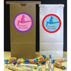 Colorful Gymnastics Theme Favor Bag