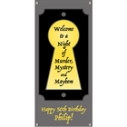 Murder Mystery Party Banner, Vertical