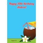 Luau Tropical Drink Party Sign in Board