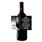 50th Anniversary Vintage Photo Wine Bottle Label