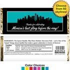 Pick Your Skyline Bachelorette Party Candy Bar Wrapper