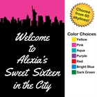 Pick Your Skyline Sweet 16 Welcome Sign
