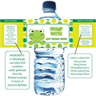 Leap Day Frog Theme Water Bottle Label