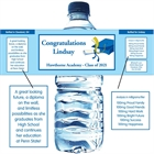 Graduation Cap Theme Water Bottle Label