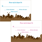 Jerusalem Skyline Theme Response Cards