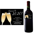Champagne Toast Theme Wine Bottle Label