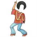 Hippie Afro Guy Cutout