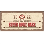 Western Theme Super Bowl Banner