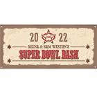 Western Theme Super Bowl Banner