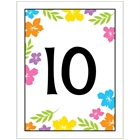 A Luau Hibiscus Theme Table Number