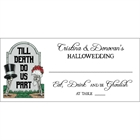 Halloween Tombstone Wedding Seating Card