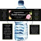 Watercolor Flowers Graduation Water Bottle Label