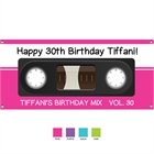 Mix Tape Theme Party Banner