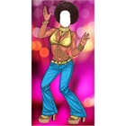 70s Disco Gold Female Photo Op Stand In