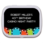 Casino Poker Chips Theme Mint Tin