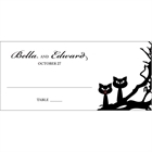 Halloween Wedding Theme Seating Card