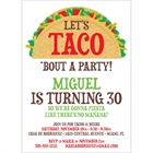 Taco Party Fiesta Invitation