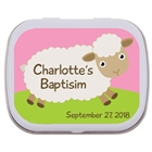 Baby Girl Baptism Mint Tin, Sheep