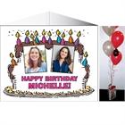 Birthday Cake For Her Photo Centerpiece