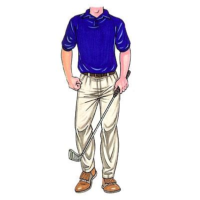 Golfer Male Cutout