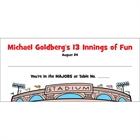 Baseball Theme Seating Card