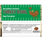 Thanksgiving Turkeybowl Theme Candy Bar Wrapper