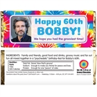 Hippie Tie Dye Photo Candy Bar Wrapper