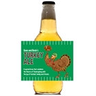 Thanksgiving Turkeybowl Theme Beer Bottle Label