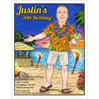 Hawaiian Shirt Guy Invitation, Add Your Face